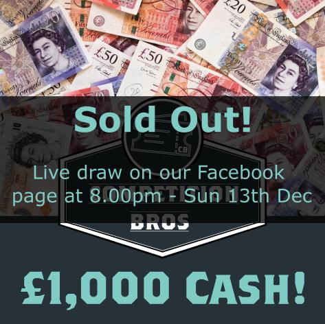 £1,000 cash - Entry List