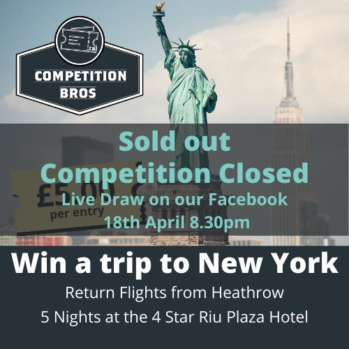 New York, New York - 4 star trip for two!