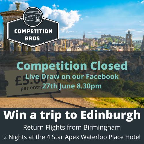 Edinburgh – Weekend trip for two! September 2021